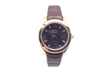 reloj alta gama señora otros premier 14 brillantes y baño de oro rosa (srkz84p1) (caja 31 mm)