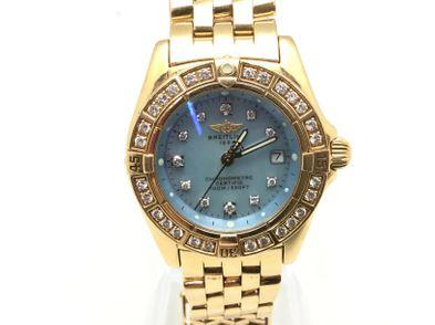 reloj de oro breitling callistino oro y brillantes k72345