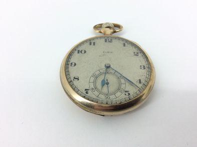reloj de oro elgin reloj bolsillo tapa rota