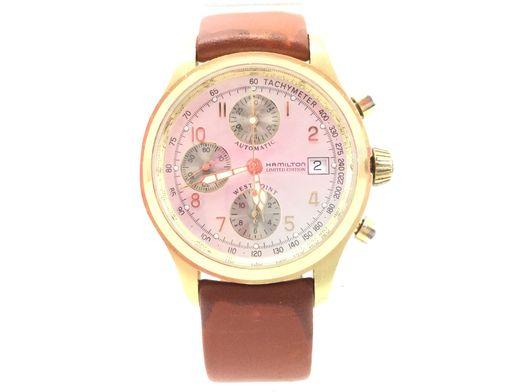 reloj de oro hamilton west point 1802 bicentennial 2002  18k gold limited edition