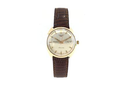 reloj de oro longines admiral cinco estrellas automatic