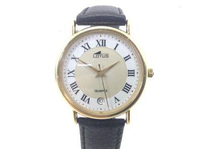 reloj de oro lotus mineral crystal