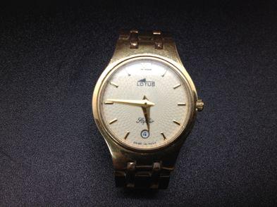 reloj de oro lotus saphir