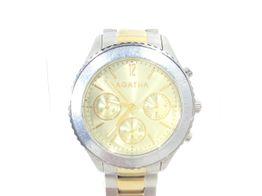 reloj pulsera unisex agatha agatha plateado y oro