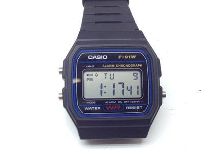 reloj pulsera unisex casio f91w