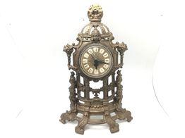 reloj sobremesa dorado vintage