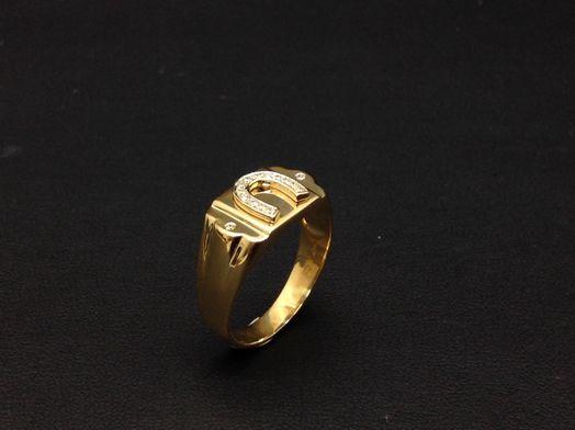 sello oro primera ley (oro 18k con piedra)