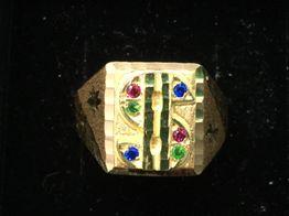 sello oro 18k con circonita