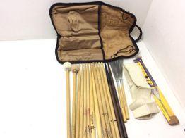 set instrumento percusion varias 8 parejas baquetas