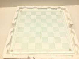 set tablero fichas giuoco di scacchi cristal
