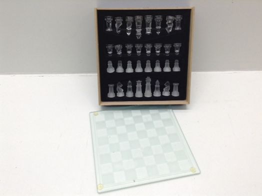 set tablero fichas glass chess set glass