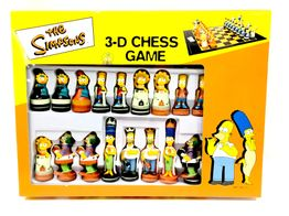 set tablero fichas simpsons 3d chess game