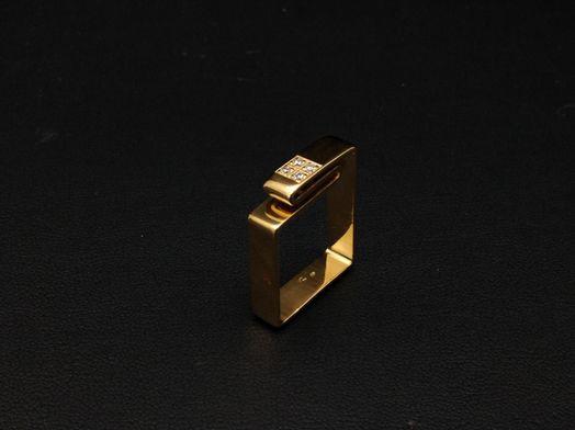 sortija oro primera ley (oro 18k con piedra)