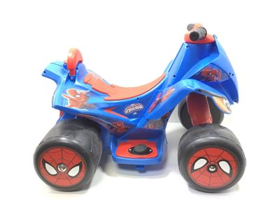 vehiculo bateria niño injusa spiderman