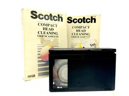 vhs virgen scotch pack 2 compact head cleaning vhs c