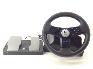 volante ps2 logitech rally vibration feedback wheel