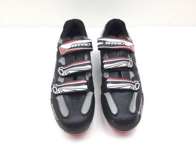 zapatilla ciclismo otros negro blanco y rojo